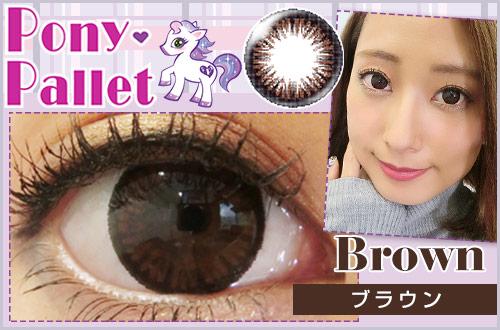 【レポ】ポニーパレット ブラウン。お人形のようなちゅるんとした可愛い印象の瞳に♡
