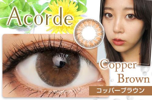 【レポ】アコルデ コッパーブラウン、ちゅるんとした透明感のある瞳!独特なフチは意外にもナチュラルに馴染む♪