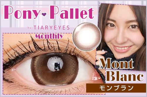 【レポ】ポニーパレットマンスリー モンブラン、ナチュラルに瞳の色をトーンアップ!ガーリーな目元の印象。
